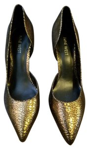 Nine West Heels Bronze Bronze/black Pumps
