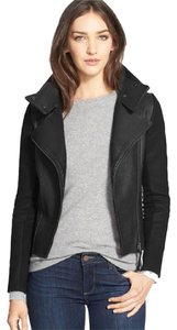 Mackage Leather Moto Motorcycle Leather Black Jacket