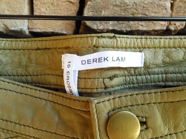 Derek Lam Leather Capri/Cropped Pants khaki