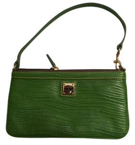 Dooney & Bourke And Leather Wristlet in Green