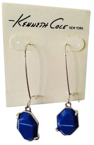 Kenneth Cole Blue Stone Geometric Dangle Earrings