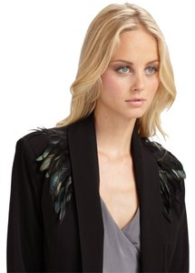 Madison Marcus Feather Dryclean Only Black Blazer