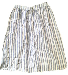 Forever 21 Striped Spring Comfortable Cute Pretty Skirt Blue and white