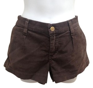 7 For All Mankind Corduroy Mini/Short Shorts Brown
