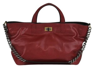 Chanel Tote in Dark Iridescent Red