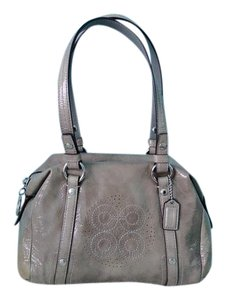 Coach Patent Leather Aubrey Satchel in Gray