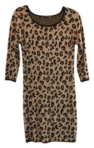 Velvet by Graham & Spencer Leopard Print Maternity Dress