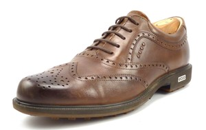 Ecco Men's Tour Hybrid Golf Shoes Wingtip Leather Oxfords