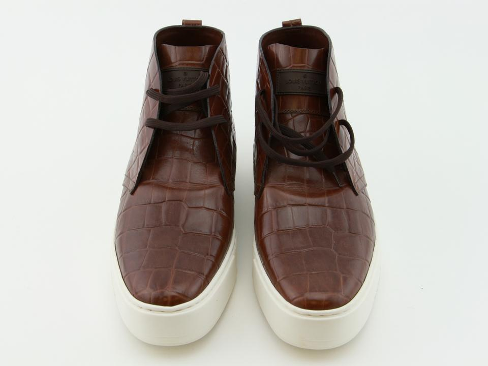10711209efb Louis Vuitton Brown Cognac New Lv Men Leather Trooper High Derby Lv 08.0  Boots/Booties Size US 9 Regular (M, B) 48% off retail