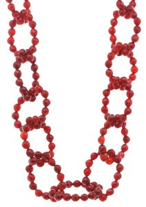 Chan Luu Chan Luu Faceted Carnelian Beaded Oval Link Necklace