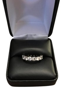 eternity ring 14k white gold 3.16cts carrots round brilliant diamond eternity ring silver