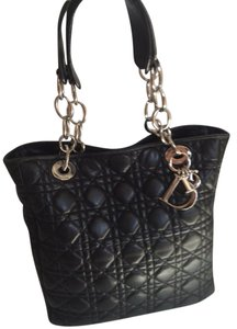 Dior Lambskin Chain Tote in Black
