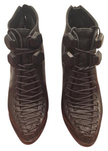 Givenchy Vintage Leather Lace Black Boots
