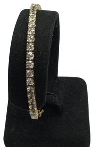 Other Estate 14 K Yellow Gold Tennis Bracelet With CZ Stones
