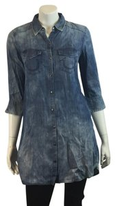 True Religion short dress DISTRESSED DENIM Denim Shirt Frame Denim on Tradesy