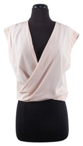 Robert Rodriguez Silk V-neck Top Peach