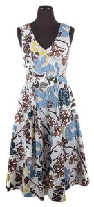 Marni short dress Multi-Color Floral Cotton Sleeveless Pleated on Tradesy
