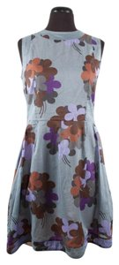 Marni short dress Multi-Color Floral Cotton Sleeveless Nude Slip on Tradesy