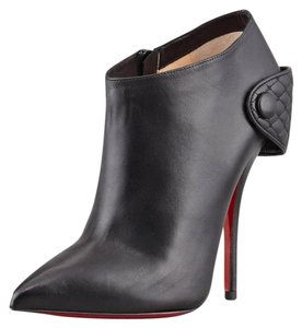 Christian Louboutin Hotero Lace Fishnet Lace Up Black Boots
