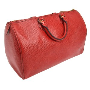 Louis Vuitton Satchel in Epi Red