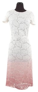 Cream & Pink Maxi Dress by Burberry Prorsum Ombre Lace