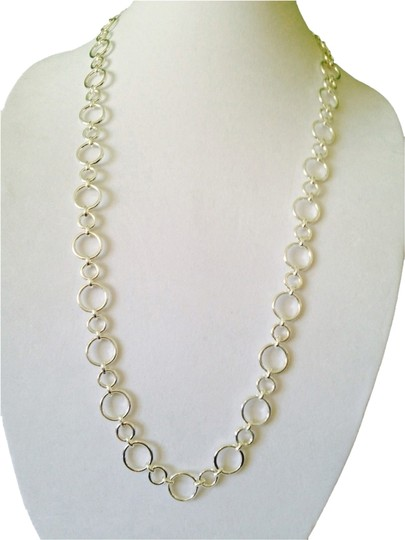 Preload https://img-static.tradesy.com/item/2097765/chaps-silver-bubble-circle-long-necklace-0-0-540-540.jpg