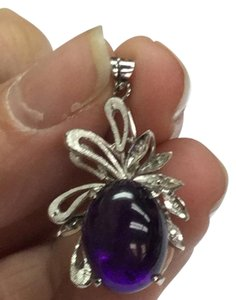 Other Estate 10 K White Gold Pendant With Amethyst Stone