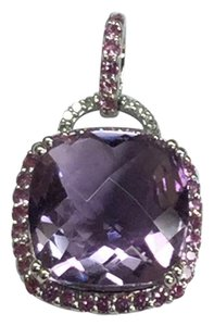 JWBR JWBR 10 K White Gold Pendant With Amethyst and Diamonds