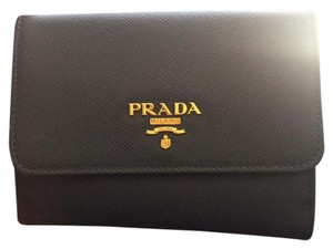 Prada Wristlet in Navy Blue