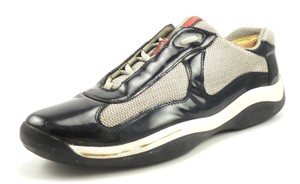 Prada Men's Patent Leather & Mesh Lace Up Sneakers
