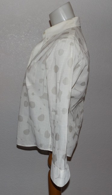 Theory Button Down Shirt White With Light Gray Image 1