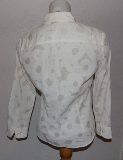 Theory Button Down Shirt White With Light Gray Image 3
