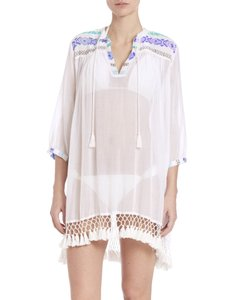 Roberta Roller Rabbit NWT ROBERTA ROLLER RABBIT SERAFINA Fringed Tunic Cover Up Sz XXS