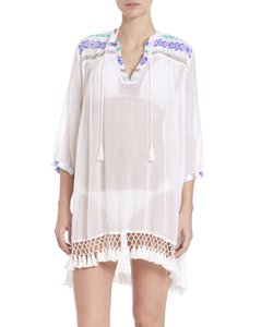 Roberta Roller Rabbit NWT ROBERTA ROLLER RABBIT SERAFINA Fringed Tunic Cover Up Sz XS