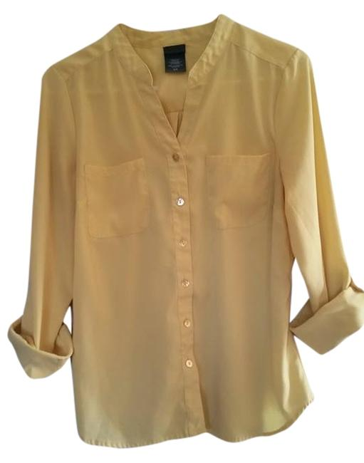 Covington Spring Bright Button Down Shirt Yellow