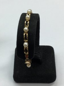 Other Estate 10 K Yellow Gold Bracelet With Pearls