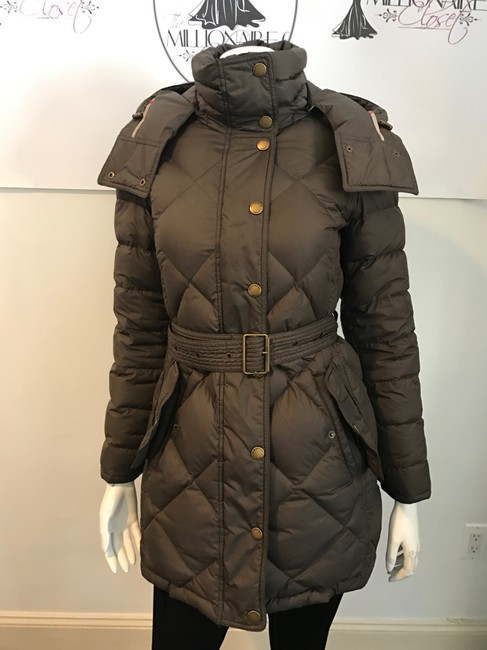 Item - Brown 1217 Chocolate Quilted Hooded Down Belted S Coat Size 4 (S)