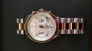 Michael Kors Michael Kors Stainless Steel Watch with Rose Gold Accents