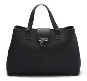 Versace Collection Leather Handbag Versace Satchel in Black
