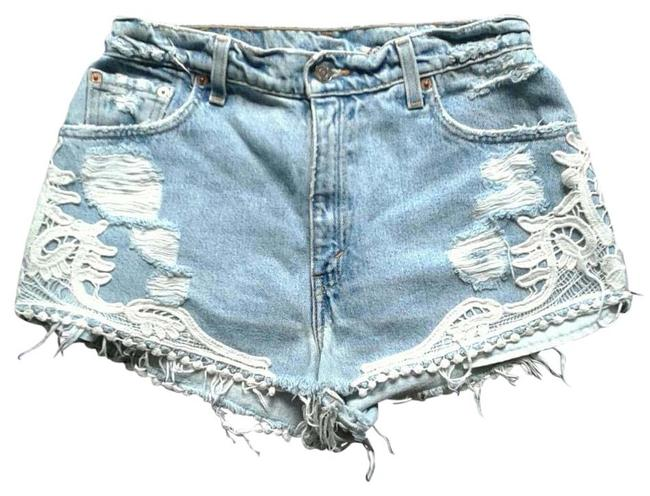 LF Denim Shorts-Distressed
