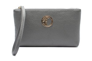Versace Collection Leather Wristlet in Grey