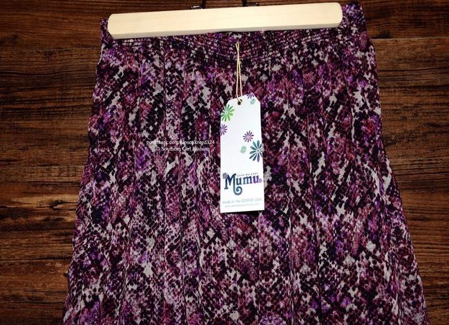 Show Me Your Mumu Long Front Slit Chic Bohemian Smym Boho Pretty Fall Winter Festival Maxi Skirt Purple/Black/White Image 4