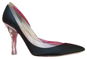 Valentino Black leather/ clear pvc Pumps