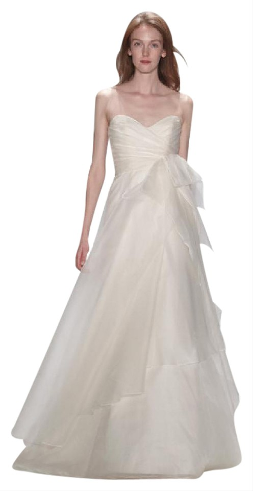 Amsale ivory silk organza nouvelle finley feminine wedding dress amsale ivory silk organza nouvelle finley feminine wedding dress size 8 m junglespirit Choice Image