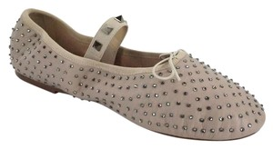 Valentino Ballet 7030706 Bow Studded Slippers Beige Flats