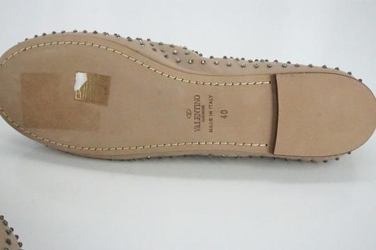 Valentino Ballet 7030706 Bow Studded Slippers Beige Flats Image 1