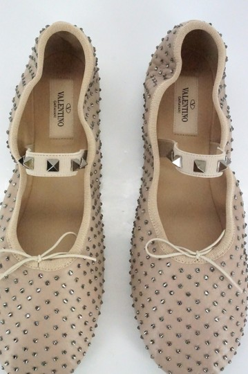 Valentino Ballet 7030706 Bow Studded Slippers Beige Flats Image 10
