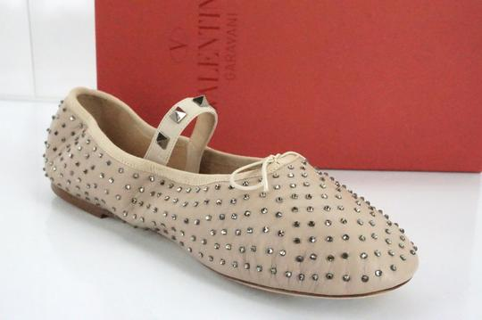Valentino Ballet 7030706 Bow Studded Slippers Beige Flats Image 2