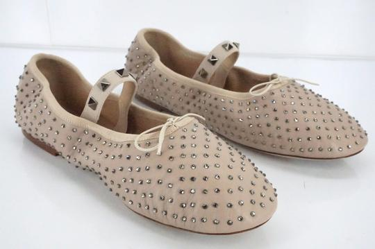 Valentino Ballet 7030706 Bow Studded Slippers Beige Flats Image 3