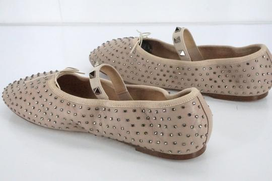 Valentino Ballet 7030706 Bow Studded Slippers Beige Flats Image 4